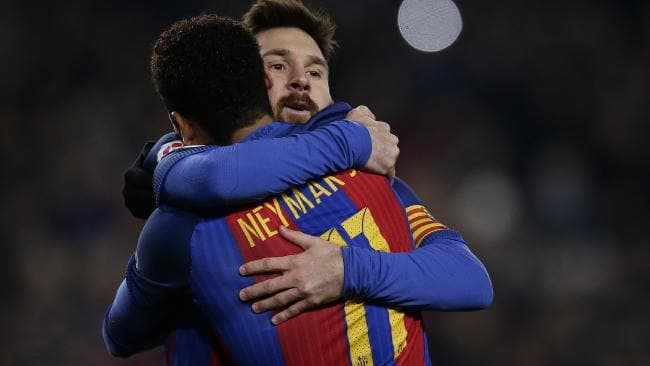 Neymar and Messi at Barcelona
