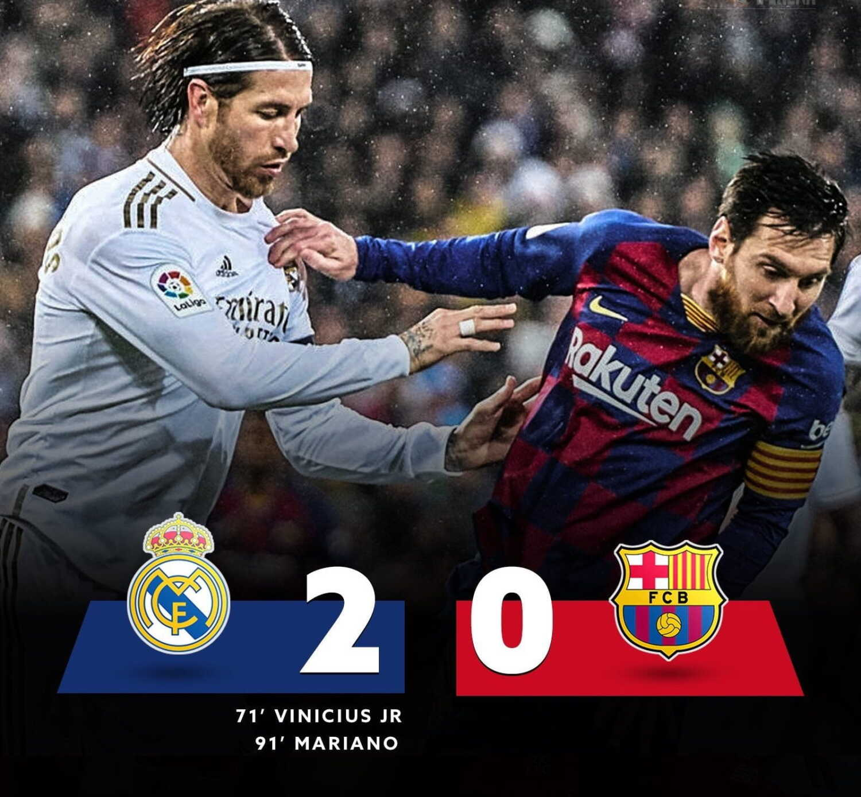 Real Madrid 2-0 Fc Barcelona 2020 El-Clasico