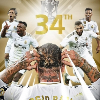 Real Madrid Sergio Ramos La Liga Champions 2020 HD phone wallpaper
