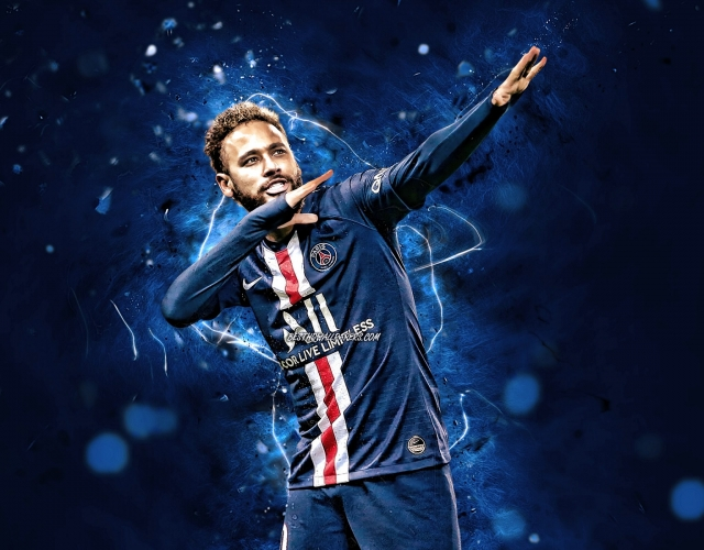 Neymar personal celebration PSG wallpaper HD 4K