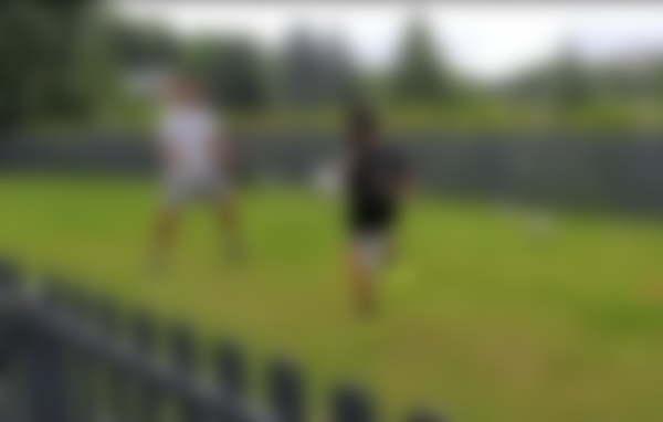 Ronaldo and son training