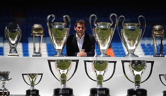 casillas poses with trophies