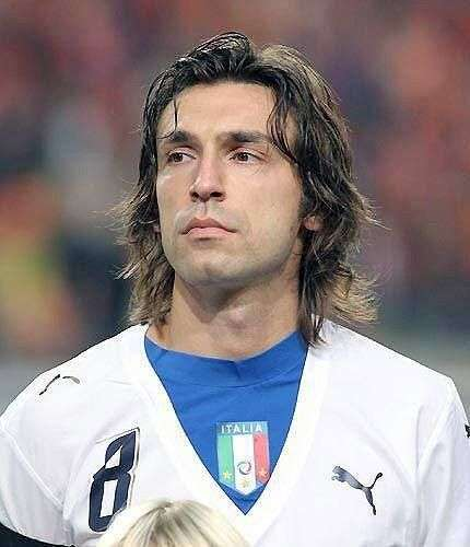 Andrea Pirlo long classic hairstyle