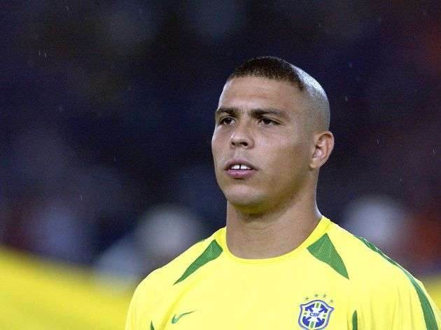 Ronaldo Nazario haircut world cup 2002