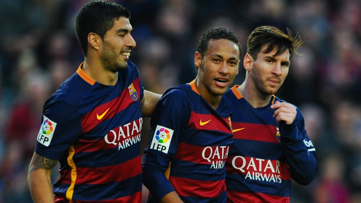 messi and neymar reacts to the move of suarez to atletico madrid