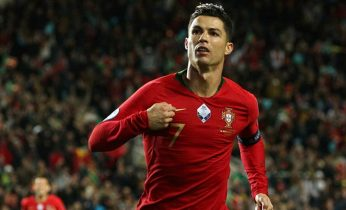 ronaldo scores his 100th goal for portugal