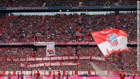 bayern munich fans in the stadium
