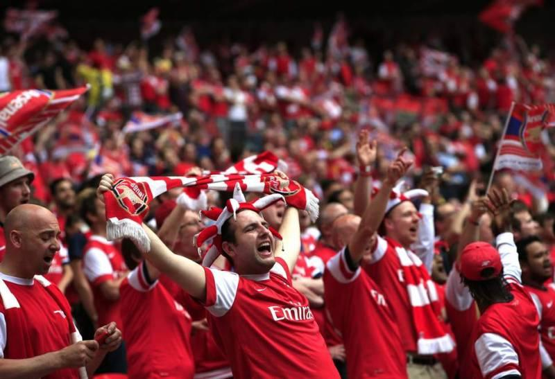 arsenal fans in the stadium