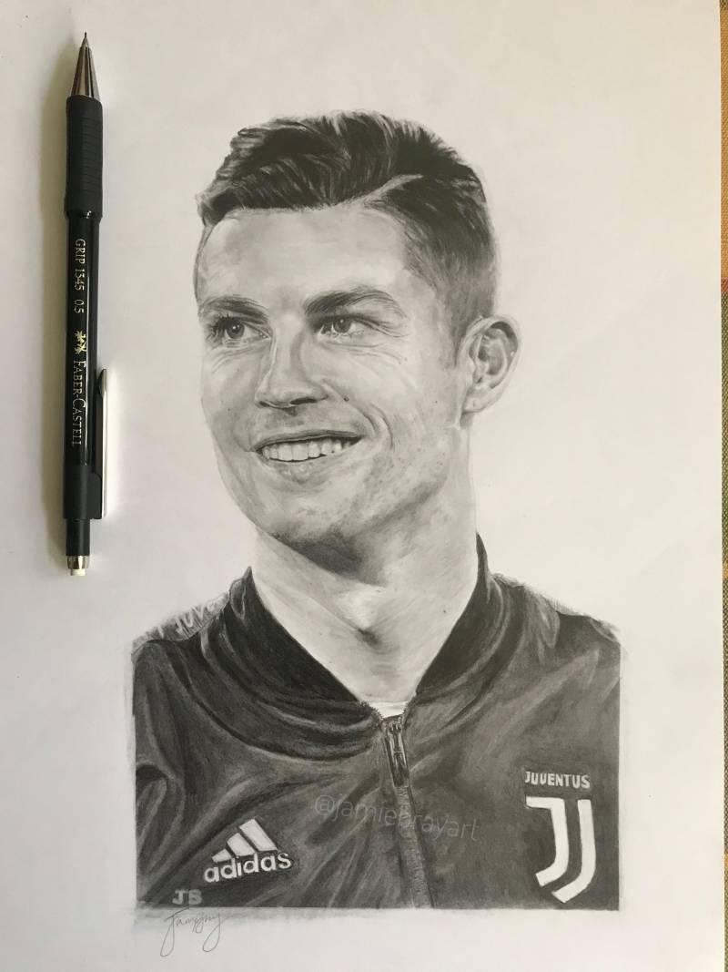ronaldo drawing juventus