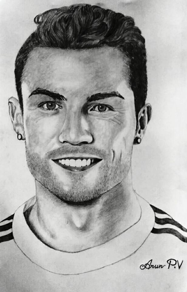 cristiano ronaldo drawing picture