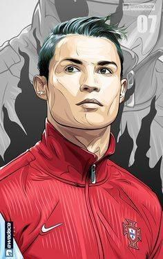ronaldo drawing portugal