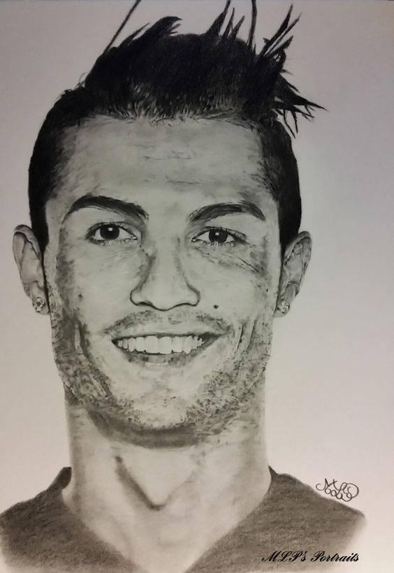 ronaldo drawing pictures