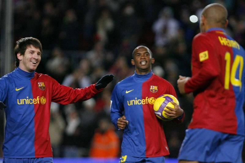 messi, henry, eto'o together are one of the best football trios of all time