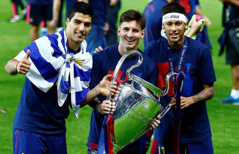 MSN is among the best attacking football trios
