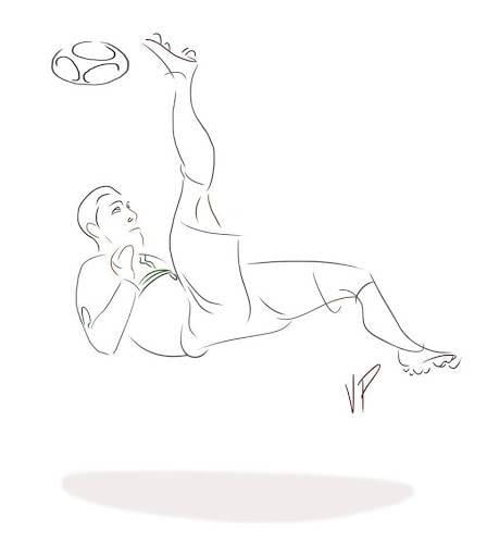 ronaldo bicycle kick drawing