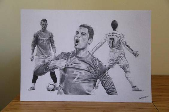 ronaldo celebration drawing