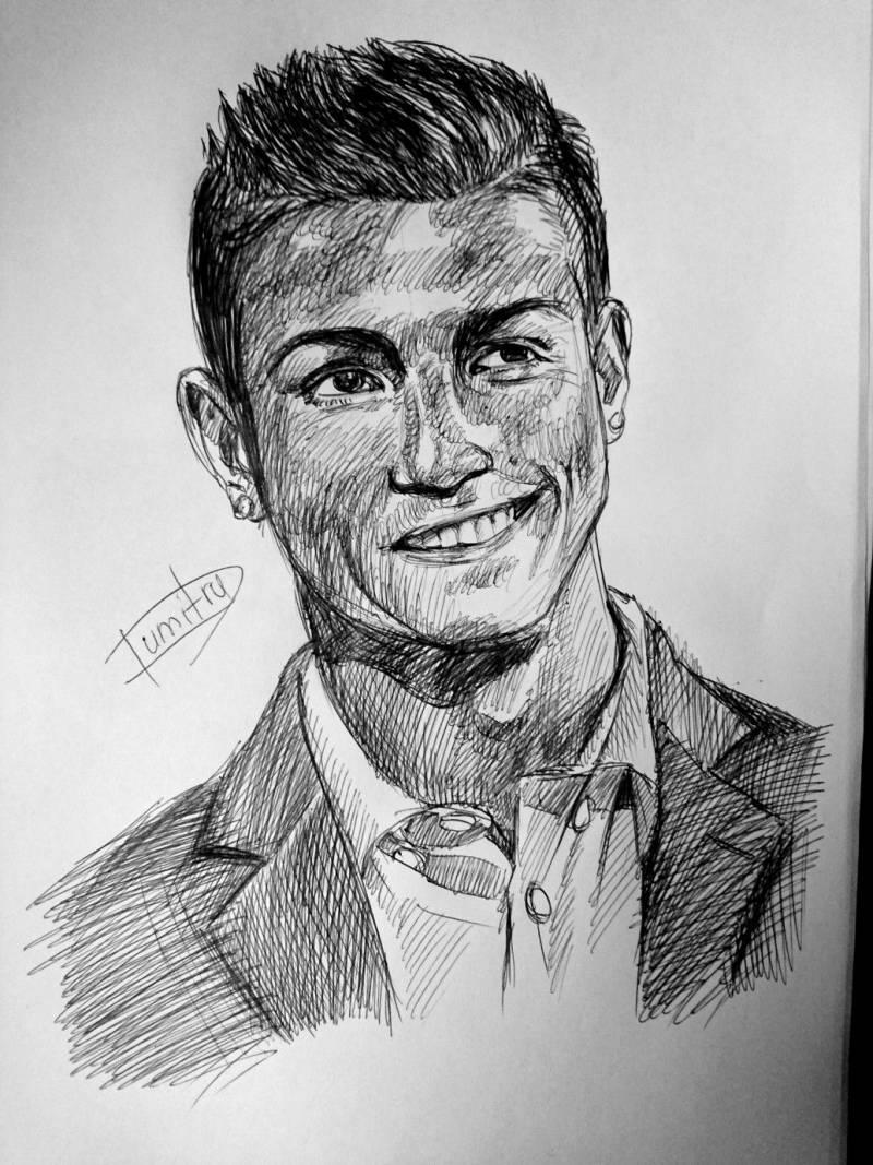 ronaldo best drawings