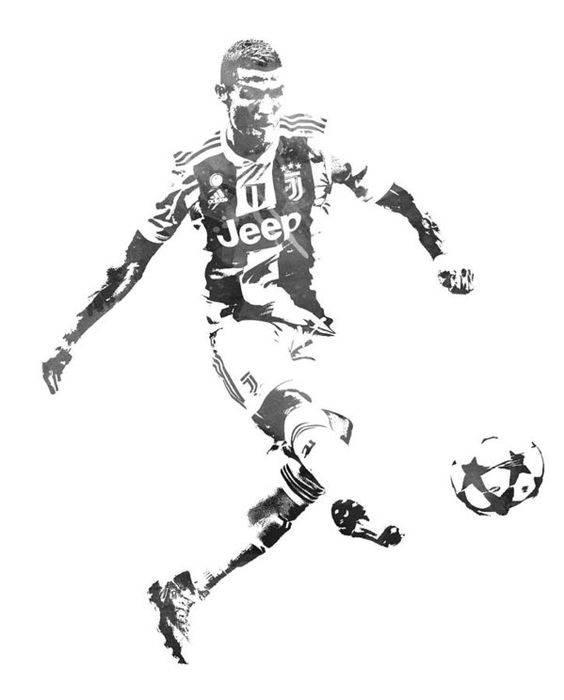 ronaldo free kick drawing