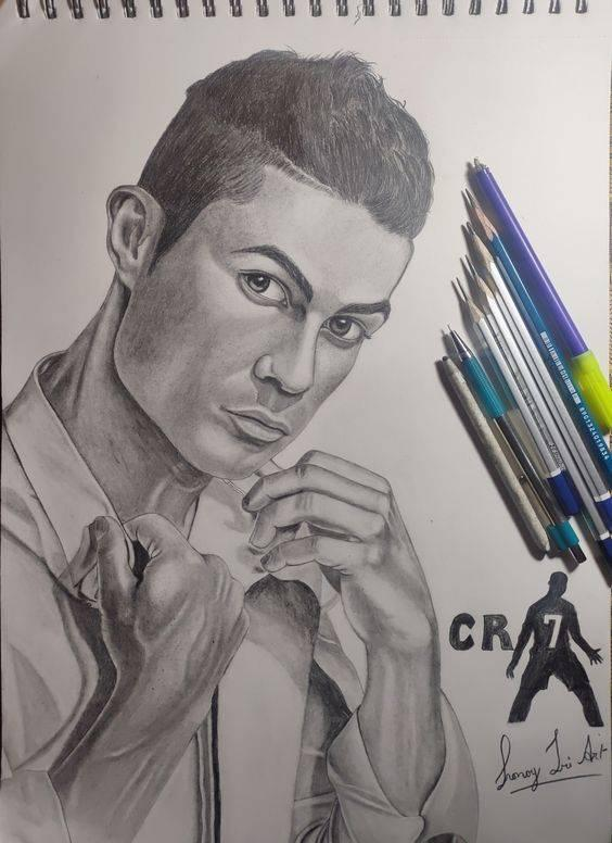 ronaldo cr7 drawing