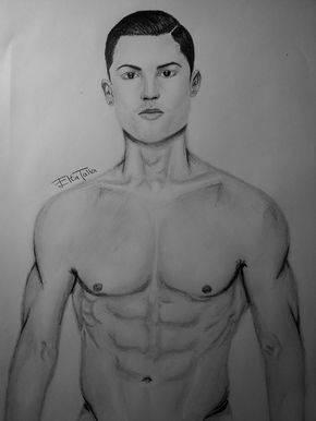 ronaldo portrait drawing