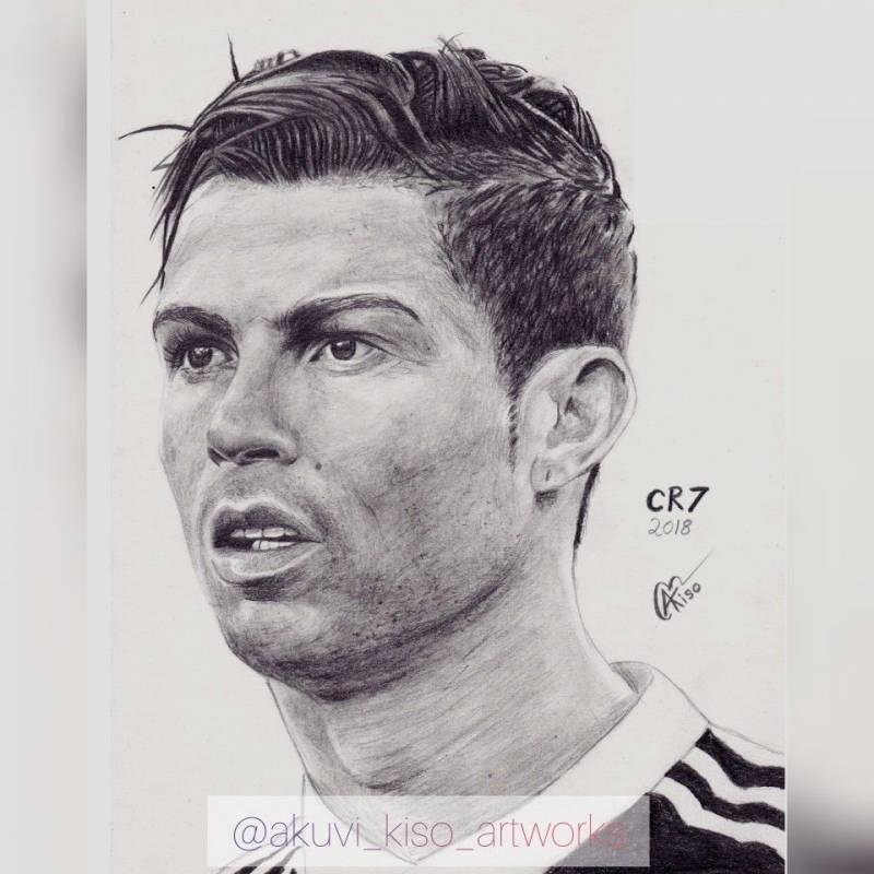 ronaldo drawing photos
