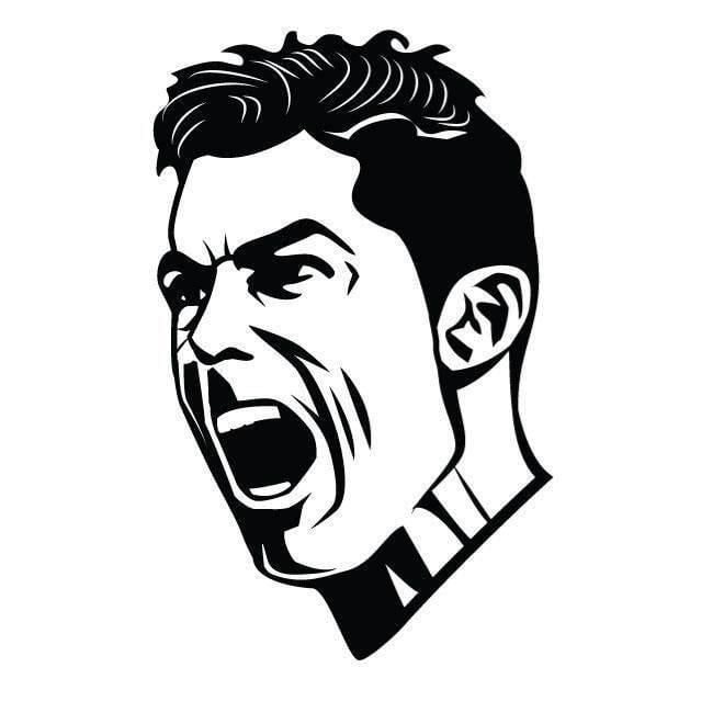 cristiano ronaldo shadow drawing