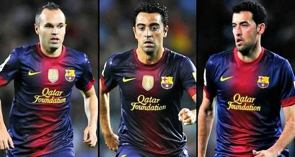 xavi iniesta and busquests trio is among the best football trios of all time
