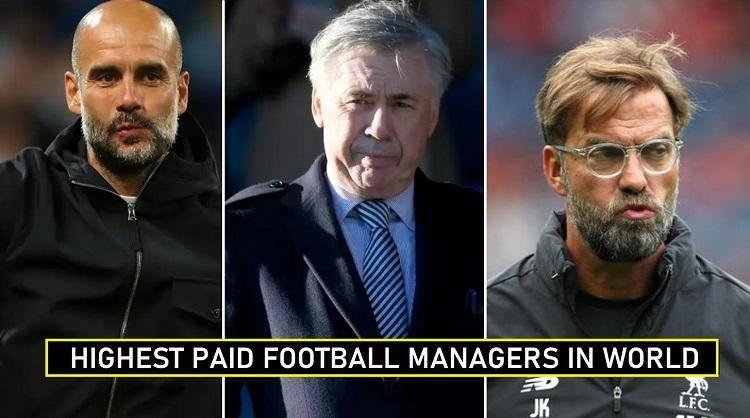 top 10 highest paid football managers in the world 2020
