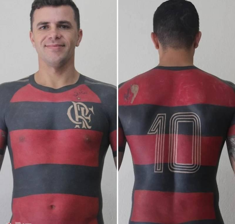 Football shirt jersey tattoo