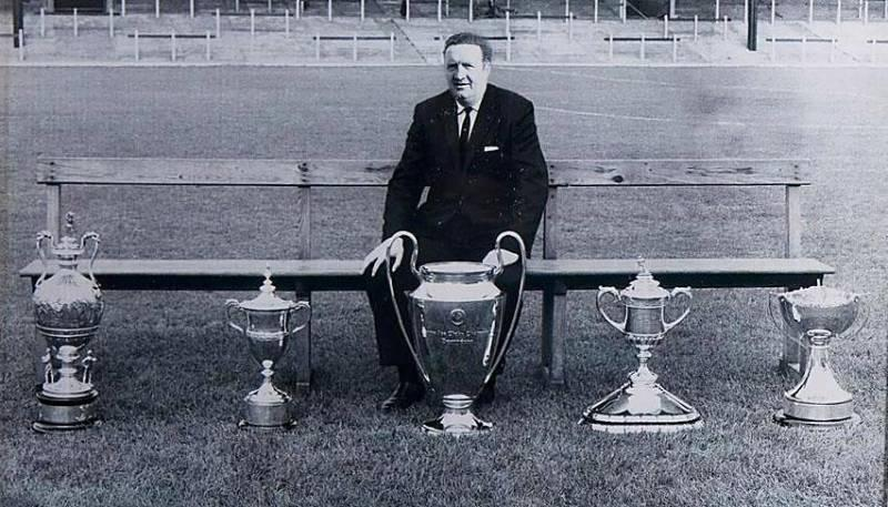 Jock Stein is one of the top ten football managers with most trophies