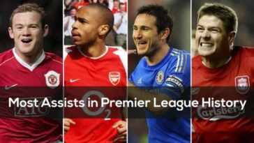Most assists in EPL history