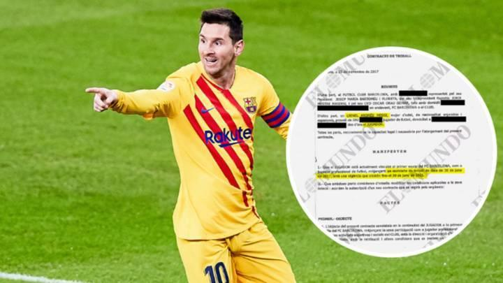 Lionel Messi's £492 Million Barcelona Contract Leaked