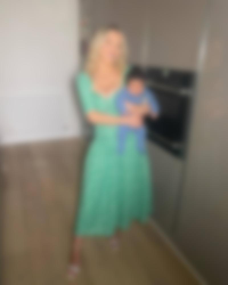 Helen Flanagan with one of her children