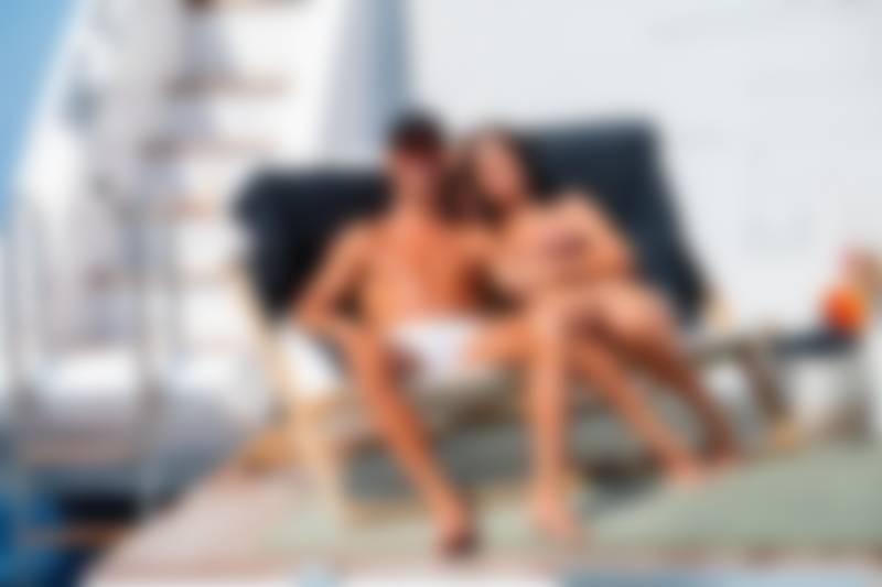 Georgina Rodriguez on a vacation with her partner Cristiano Ronaldo