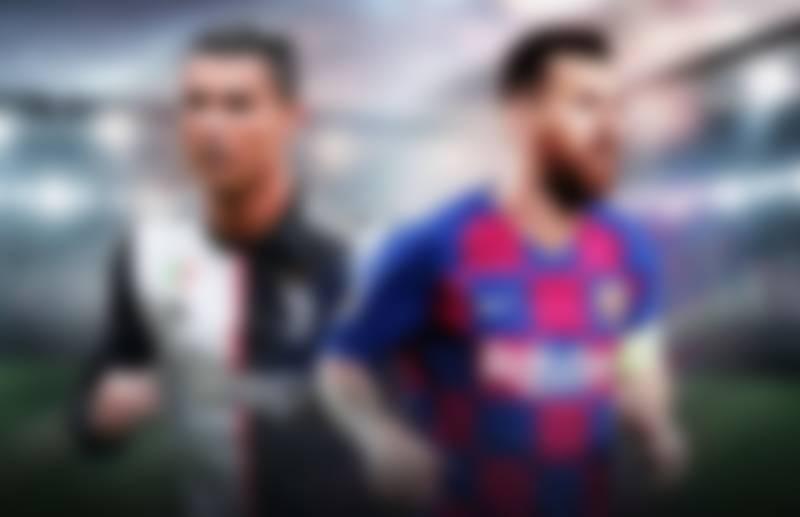 Cristiano Ronaldo (left) Lionel Messi (right)