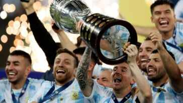 Lionel Messi wins Copa America and holds an international trophy for the first time in his career.