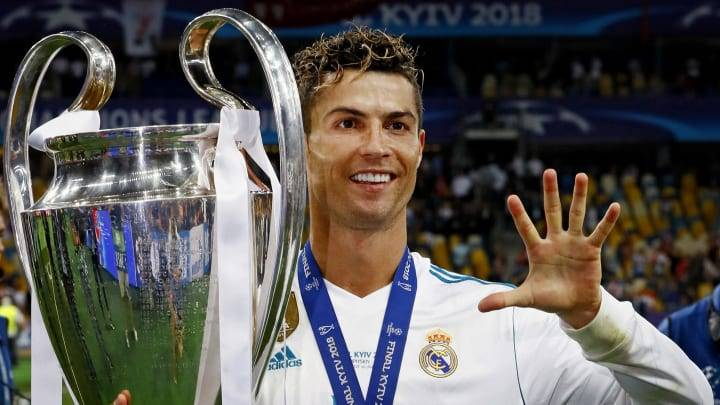 Cristiano Ronaldo won 5 Champions League titles.