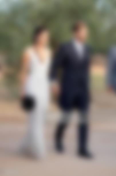 Sergio Ramos and his wife Pilar Rubio in wedding
