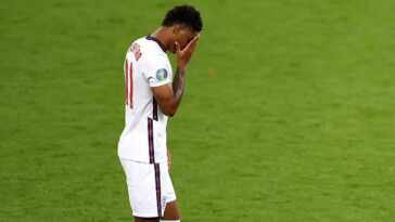 English players react to racism in football