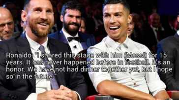 10 things that Cristiano Ronaldo has said about Lionel Messi