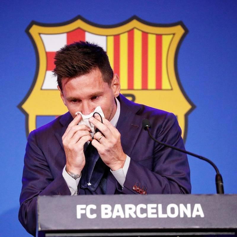 Leo Messi's farewell speech was quite emotional and he was left in tears before he even began his goodbye speech.